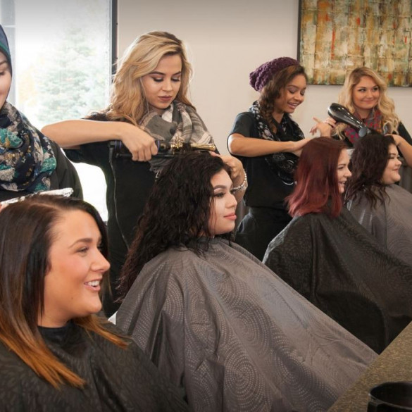 Stylist Learning at David Pressley