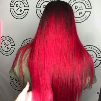 Hair School in Taylor, MI | Bright Red Hair Color | Become a Cosmetologist