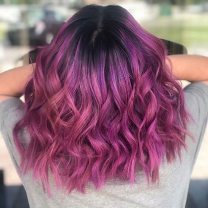 Hair School in Taylor, Michigan | Purple Hair Styling
