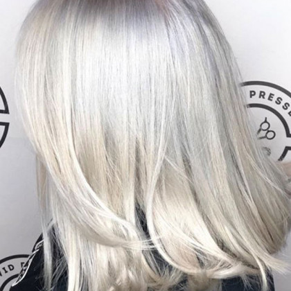 Cosmetology School in Taylor, MI | White Hair Color | White Hair Styling